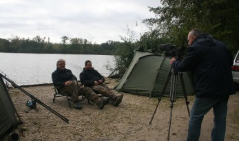 filming carp fishing