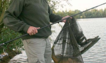 weighing carp accurately