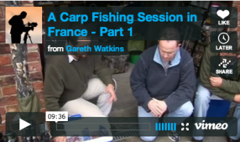 PREPARING FOR A CARP FISHING SESSION IN FRANCE
