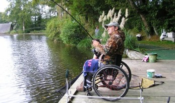 wheelchair angler at Vaux