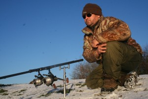 Carp fishing in winter