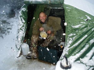 Winter carp fishing