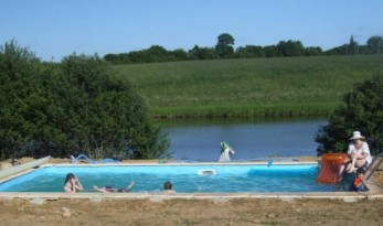 alder carp lake in france with pool