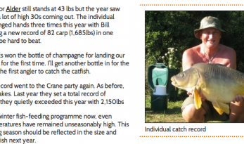 ALDER CARP LAKE – 2011 ROUND-UP
