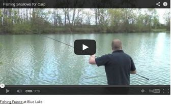 VIDEO OF FISHING THE SHALLOWS FOR CARP AT BLUE LAKE