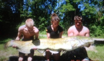 140lb catfish from Vaumigny