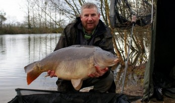 big winter carp at old oaks french carp lake