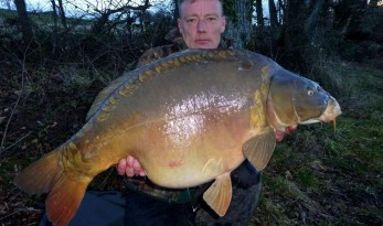 big winter carp at castle lake