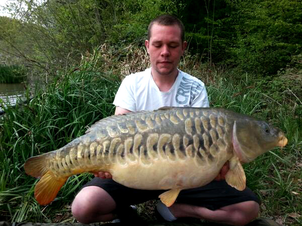 Scaley Carp Fishing in France at Brie