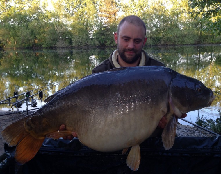 Carp caught at Old Oaks Carp Fishing in France