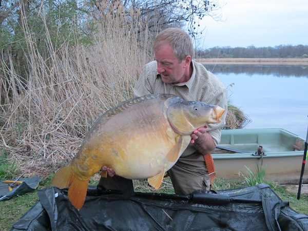 Castle lake carp,. The lead I used was the trilobe.