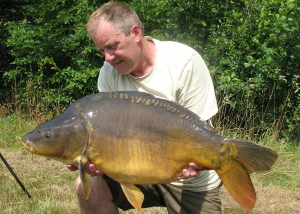 This was one of the many upper twenties from Alder Lake that Jim and I caught which was part of  161 carp that we caught in one week. Following this big hit anglers have realised the importance of heavy baiting and massive hauls are now on the cards.