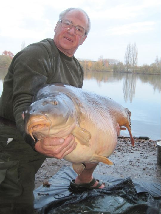 70lb carp at laroussi in france