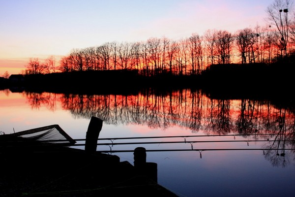 Carp Fishing France at Brie sunset