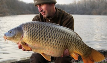 carp fishing in France at Brie with angling lines