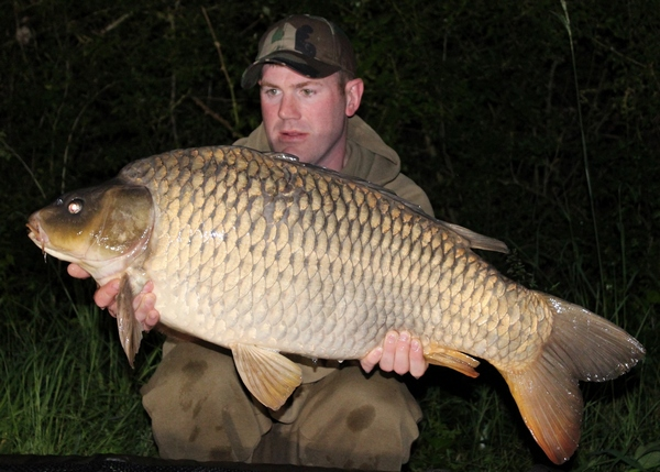 Blue lake carp fishing in france