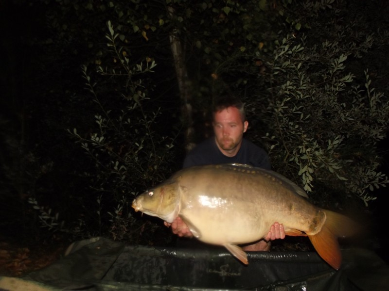carp fishing france at Villefond