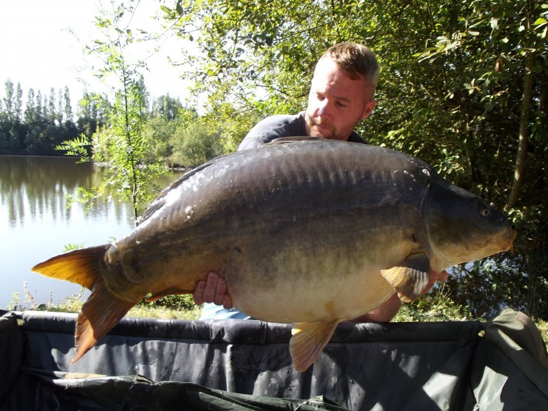 Villefond big carp in France