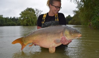 carp fishing in france at lillybelle ladies record