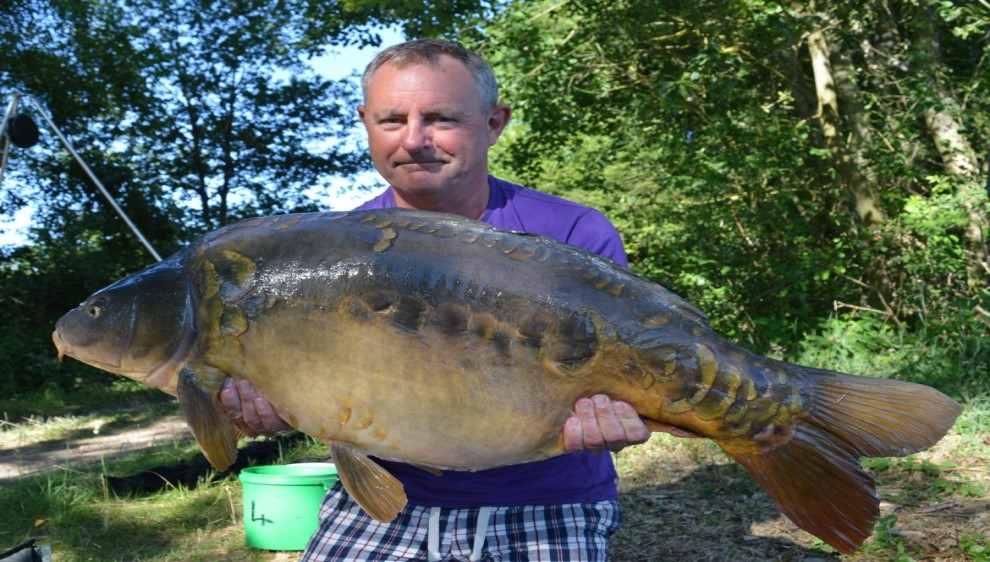 My 46 Mirror, Caught this again in Oct, note the linear lateral line of large scales.