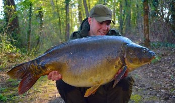 carp fishing at Vaumigny in France