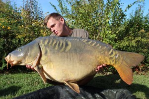 Bruno Simond with a big French mirror carp