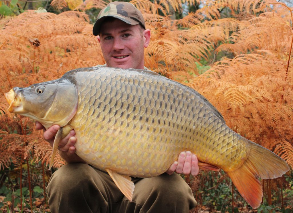 Matt Linstead with a stunning French common carp