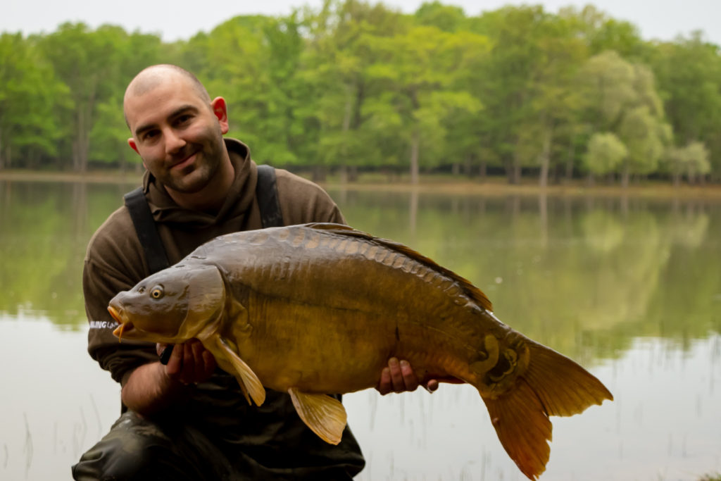 Mike Linstead with 32lb Augustin Mirror Carp